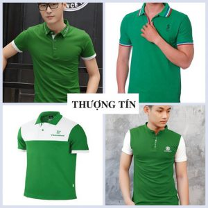 Lựa chọn may áo thun đồng phục màu xanh lá cho công ty