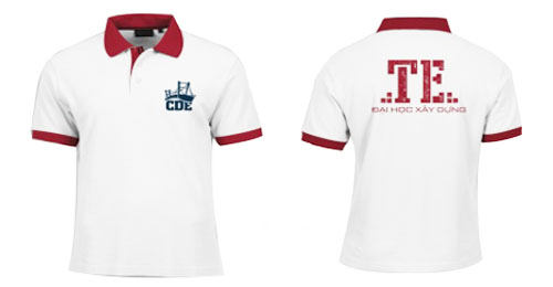 áo thun đồng phục sinh viên đại học xây dựng