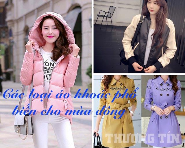 Các loại áo khoác phổ biến cho mùa đông