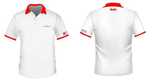 áo thun đồng phục sinh viên hbu