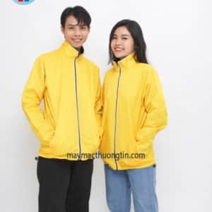 áo khoác hai mặt màu vàng và đen