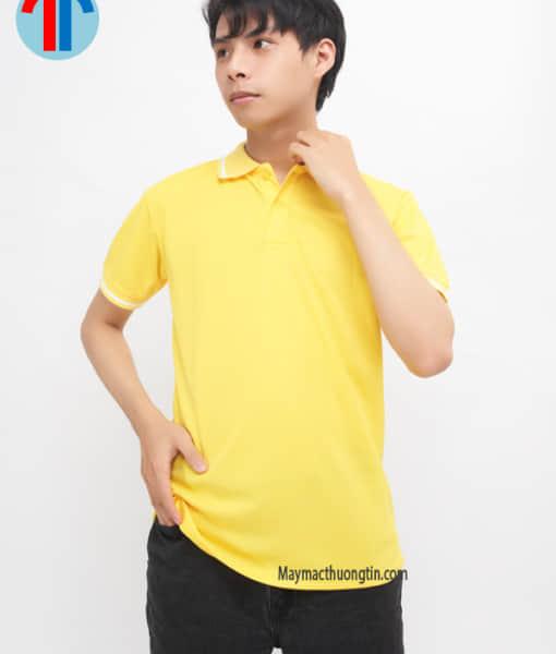 áo thun đồng phục màu vàng