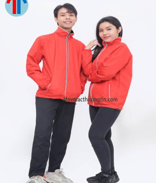 áo khoác cặp màu đỏ